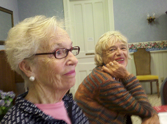 Lucy Neubauer (Left Sunday Symphonies Chair Judy Coppie (Right) Education & Community VP